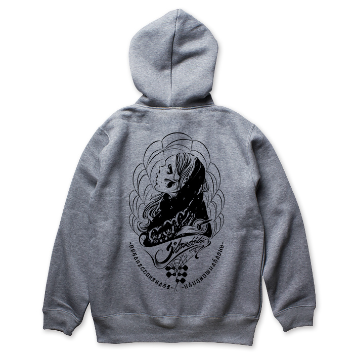 Photo1: USUGROW / 3S GREY ZIP UP HOODIE (1)