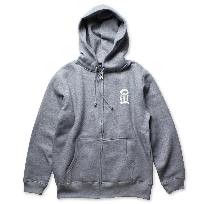 Photo1: USUGROW / I GREY ZIP UP HOODIE (1)