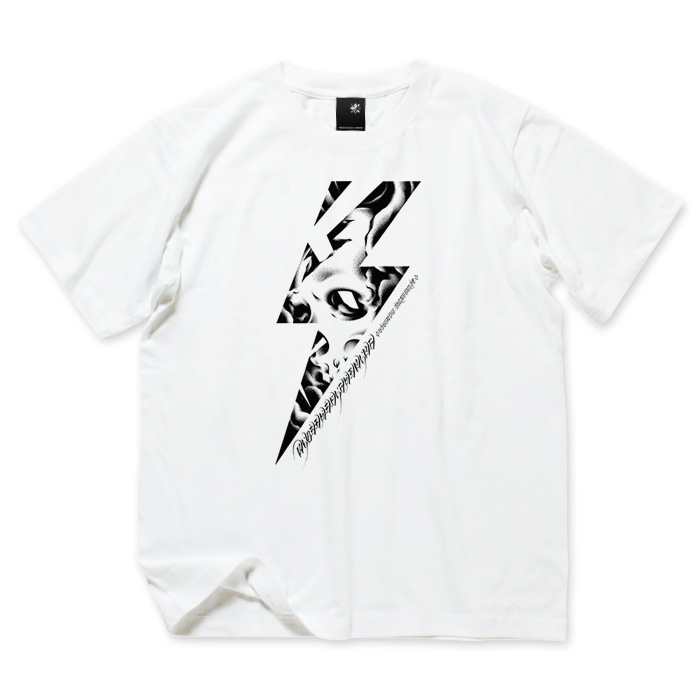 Photo1: USUGROW / RIDE THE LIGHTNING WHITE TEE (1)