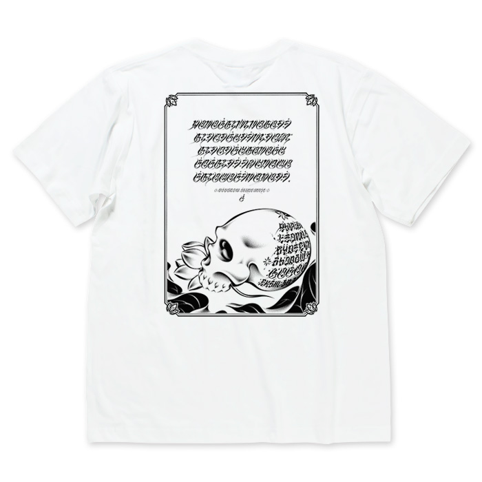 Photo1: USUGROW / HASADHU SHINGON WHITE TEE (1)