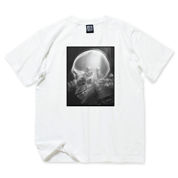 Photo1: USUGROW X-RAY WHITE TEE (1)