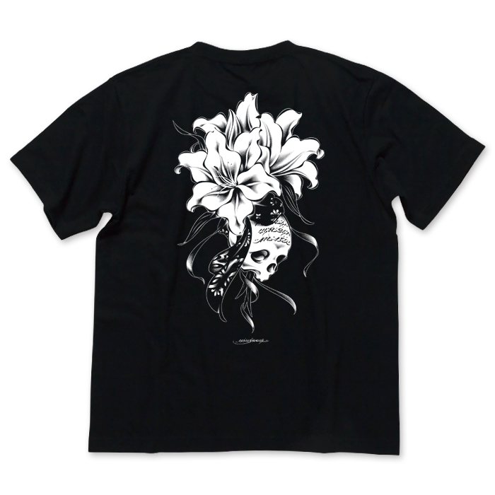 Photo1: USUGROW / REBIRTH BLACK TEE (1)